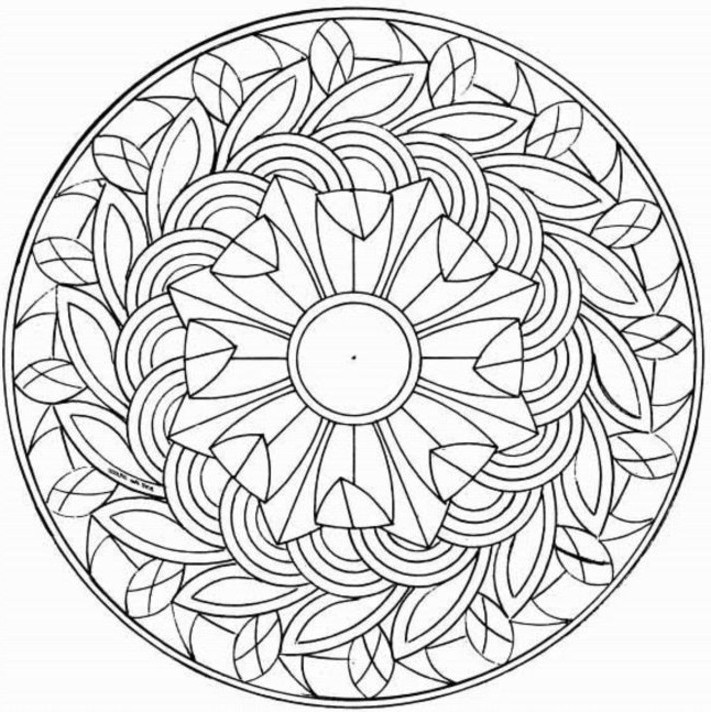pattern coloring pages for teens - photo#32